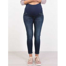 Джинсы для беременных. Цвет: синий