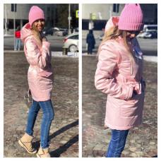 """Куртка """"Парка"""" розовый перламутр 3 в 1"""