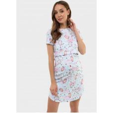 """Ночная сорочка """"Мелана"""" для беременных и кормящих; цвет: голубой"""