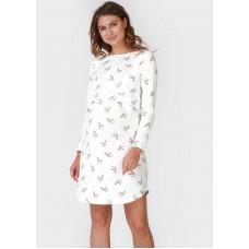 """Утепл. ночная сорочка """"Диодора"""" для беременных и кормящих; цвет: айвори"""