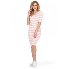 """Платье """"Фьюджи"""" для беременных и кормящих персик белый"""