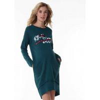 """Платье """"Селма"""" для беременных; цвет: бутылочный"""
