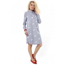 """Платье """"Алора"""" для беременных и кормящих; цвет: полоска принт"""