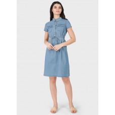 """Летнее джинсовое платье-рубашка с поясом для беременных и кормления """"Джулия"""""""
