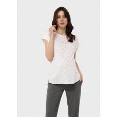 """Летняя блузка (туника) с коротким рукавом и принтом для беременных """"Лиза"""""""