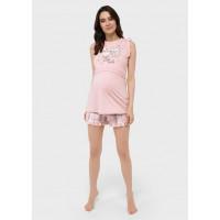 """Пижама (майка, шорты) для беременных и кормления """"Лия"""""""
