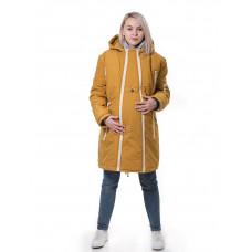 Куртка Парка горчица ЗИМА 3 в 1 (для беременных и слингоношения)