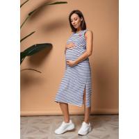 """Платье """"Элеонора"""" для беременных и кормящих; синий/полоса"""