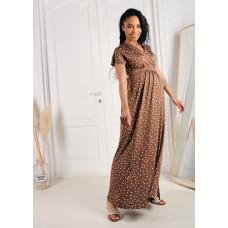"""Платье """"Лианель"""" для беременных и кормящих; кофе/горох"""