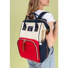 """Сумка-рюкзак для мам """"Mummy bag"""" ; сине-красный"""