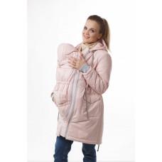 Слингокуртка 3 в 1 Парка розовая для беременных