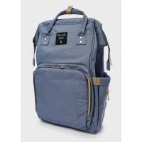 Рюкзак для мам с USB портом, голубой