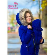 """Куртка зимняя """"Парка-мех"""" василёк  для беременных и слингоношения"""
