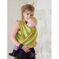 Слинг-шарф, Амама Табатай, зелёный полосатый