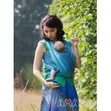 Слинг-шарф, Амама Табатай, бирюзовый полосатый