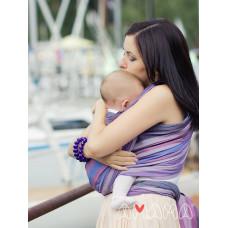 "Слинг-шарф, Амама ""Табатай"", фиолетовый полосатый"