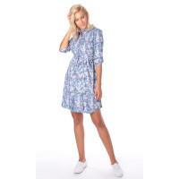 Платье-рубашка - цвет голубой - для беременных и кормящих мам