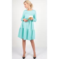 Платье с воланами ментол для беременных