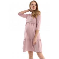 """Платье """"Слава"""" - пудра - для беременных и кормящих мам"""
