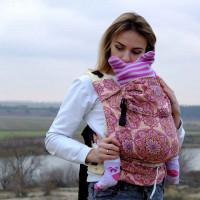 """Рюкзак """"Лёгкость-Этно"""" розовый с 3х мес"""