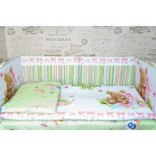 Комплект в кроватку МИШКА со съемными чехлами