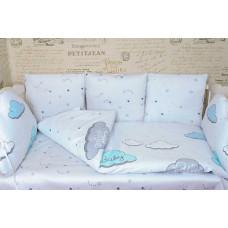 Комплект в кроватку с подушками ОБЛАКА