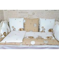 Комплект в кроватку с подушками ЗВЕРИ