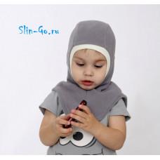 Шлем флисовый серый
